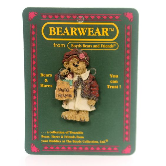 Boyds Bears Resin Collette's Shopping Spree Pin Height: 2.25 Inches Material: Polyresin Type: Pin Brand: Boyds Bears Resin Item Number: Boyds Bears Resin 26054 Catalog ID: 29631 New. Folkwear From Boy