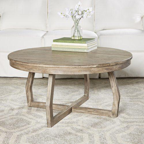 Birch Lane Hibbert Coffee Table In 2020 Round Wood Coffee Table