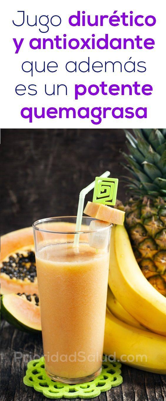 zumos para bajar de peso y quemar grasa