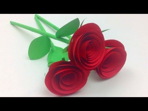 How To Make Small Rose Flower With Paper Easy Paper Roses