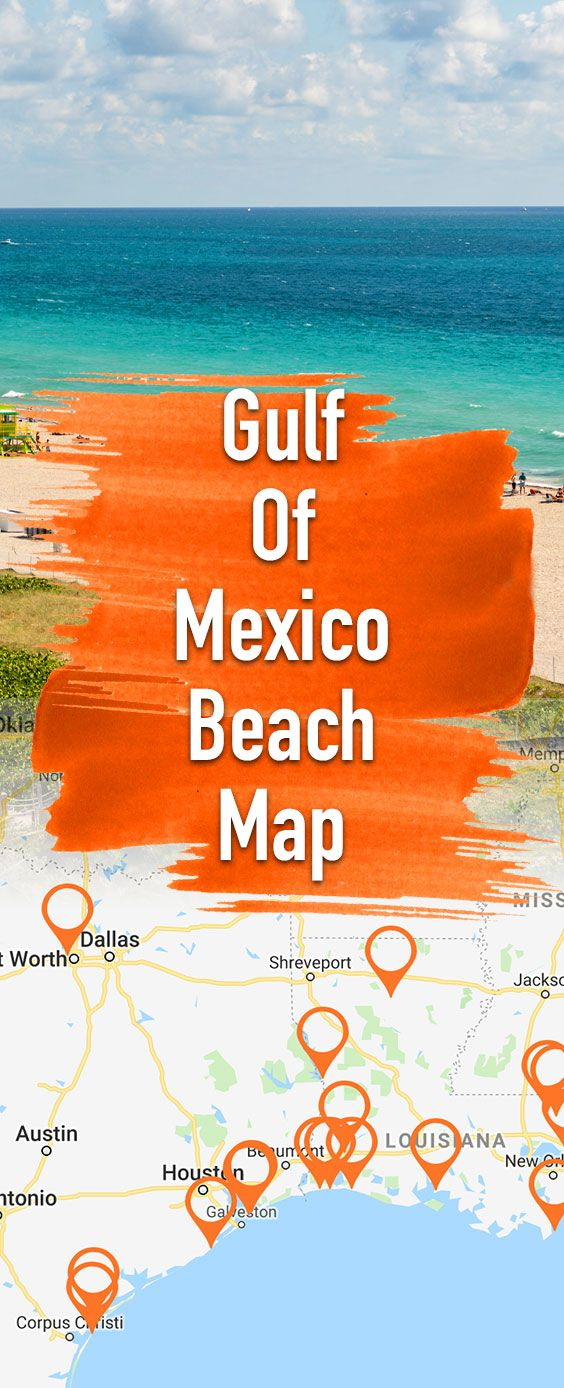 Map of the best US beaches of the Mexican Gulf! Alabama ...