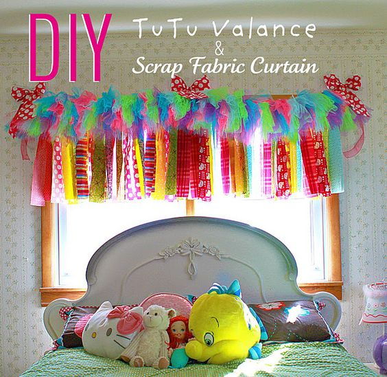 How to make a tutu valance and fabric scrap curtain. Will be making ...