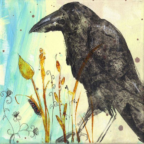 Simon is this crows name art print by RobinMariaPedrero on Etsy,