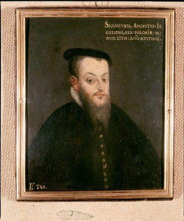 Lietuvos didžiojo kunigaikščio ir Lenkijos karaliaus Žygimanto Augusto (1520–1572) portretas, apie 1570. Čartoriskių muziejus Krokuvoje / Portrait of Grand Duke of Lithuania and King of Poland Sigismund August (1520–1572), around 1570. The Princes Czartoryski Foundation at the National Museum in Cracow.
