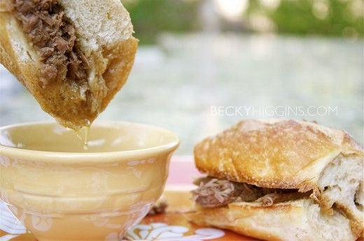 Super easy french dip sandwiches