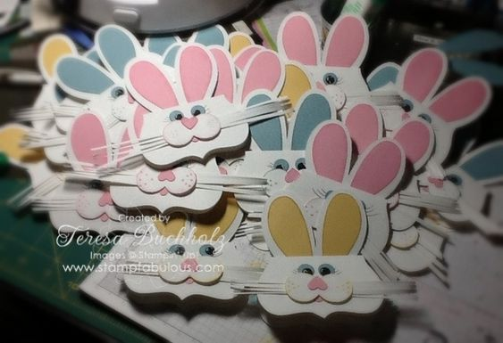 Top Note Bunny Bag Toppers = Adorable: Card Idea, Bunnies Bunnies, Easter Cards, Easter Bunnies, Cards Easter, Easter Ideas, Buchholz Stamp