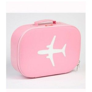Light Pink Airplane Suitcase by Bakker Made With Love