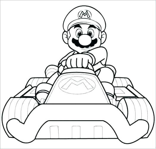 Free Printable Colouring Pages Super Mario Pusat Hobi Di 2020