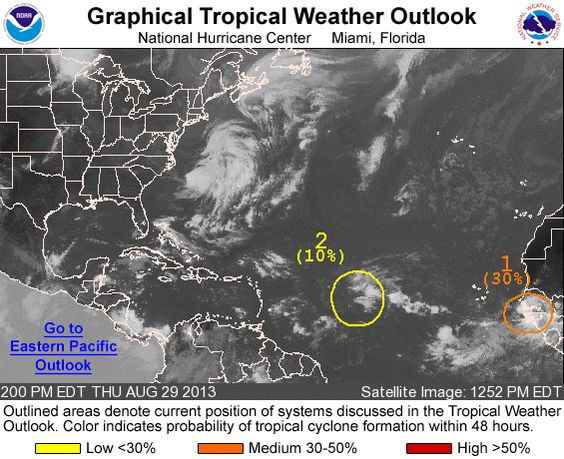 The National Hurrican Center Nhc Is Watching For The Potential Of Tropical Development In The Atlantic Oce Tropical National Hurricane Center Satellite Image