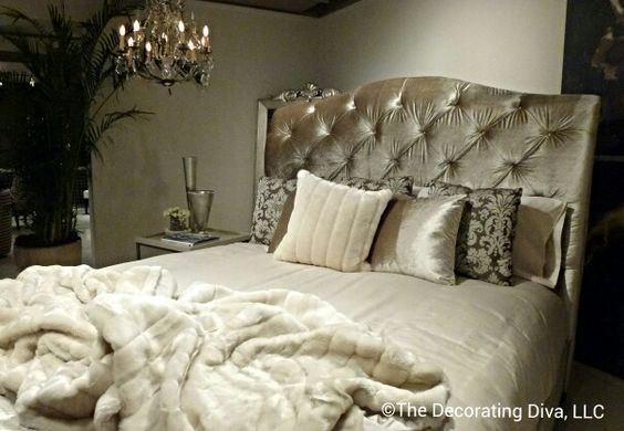 1940 Bedroom Decorating Ideas: Luxe Bedroom At Bernhardt Interior Channels 1940s And
