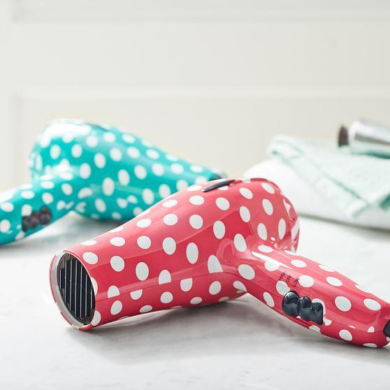 Polka Dot Hair Dryer! Love it, want it :)