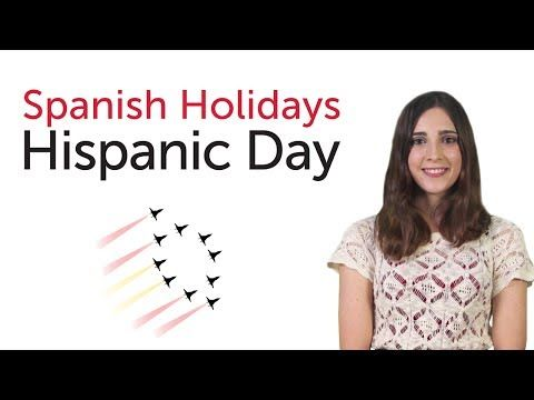 Learn Spanish Holidays - Hispanic Day - Día de la Hispanidad/Fiesta Nacional - YouTube