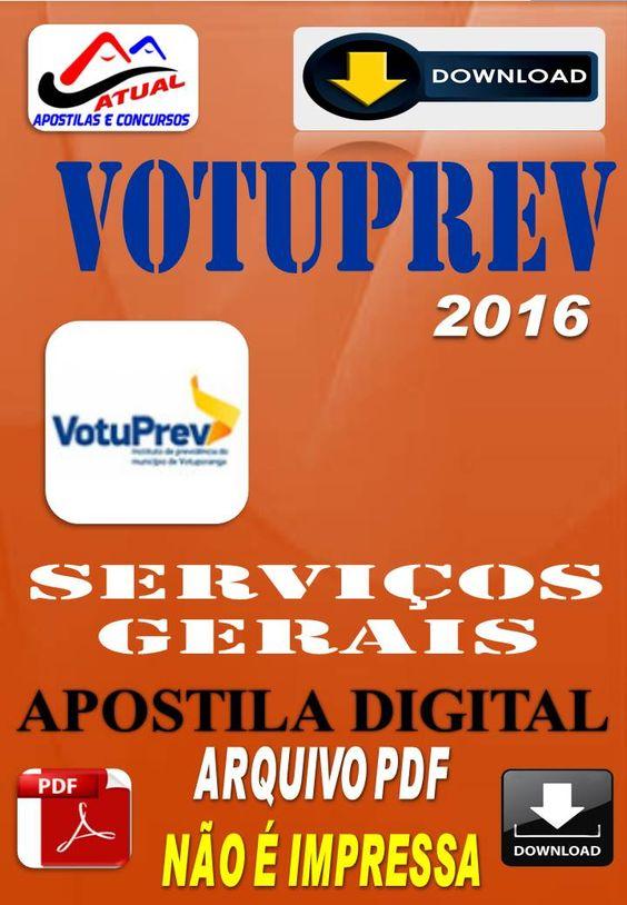 Apostila Digital Concurso Votuprev Servicos Gerais 2016