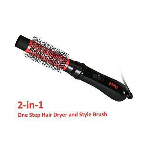 Mhu Hot Air Styling Brush One Step Ionic Hair Dryer Volumizer 750w 32mm Ceramic Hairdryer Comb Price As Of Ionic Hair Dryer Styling Brush Hair Dryer
