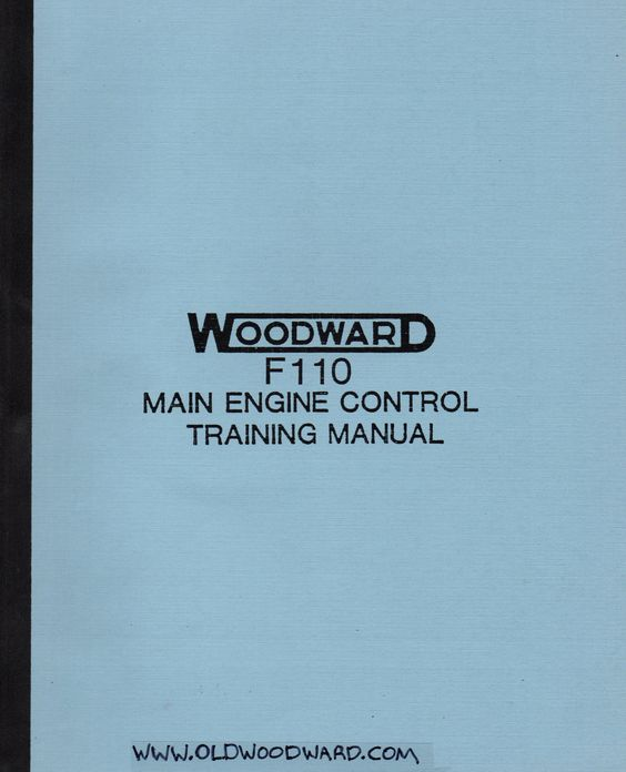 A Woodward MEC training manual for the GE F110 gas turbine - training manual