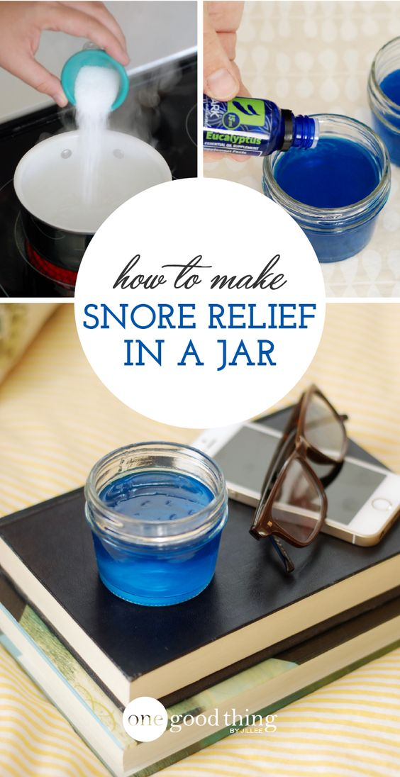 How To Make Snore Relieving Gel In A Jar. Marjoram, eucalyptus, lavender and  peppermint essential oils.  Thyme EO is also supposed to be good for snoring.