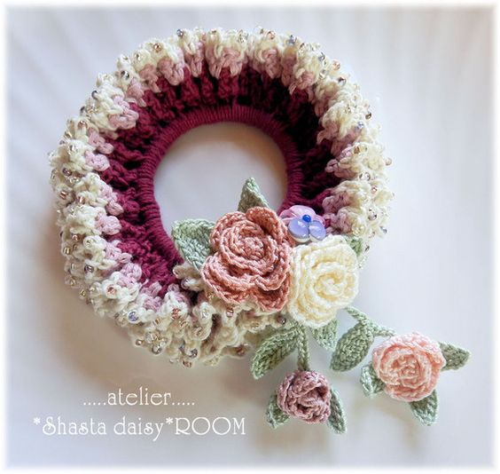 crochet hair tie: