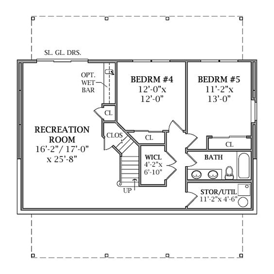 optional walk out basement plan image of lakeview house plan