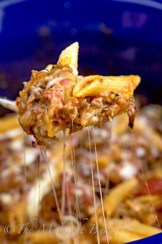This slow cooker baked ziti is loaded with eggplant and fire roasted ...