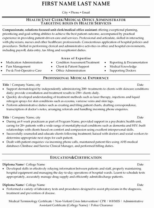 Office Administrator Resume Examples Inspirational Medical Fice Administration Resume Sample Temp In 2020 Medical Sales Resume Medical Resume Template Medical Resume