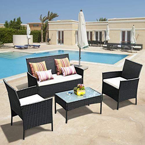 Buy Tangkula 4 Pcs Patio Wicker Furniture Set Outdoor Patio Furniture Rattan W Buy Furnitu In 2020 Patio Furniture Cushions Wicker Patio Furniture Patio Cushions