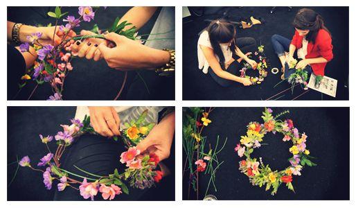 #DIY Beautiful flower headpiece in 4 easy steps on the Nicole Miller blog