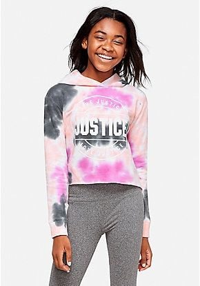 Tie Dye Logo Hoodie Justice Clothing Outfits Girls Outfits Tween Justice Clothing