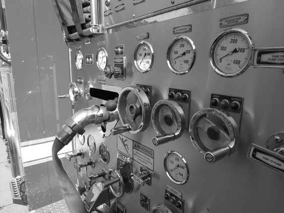 Pump Panel of a Fire Engine
