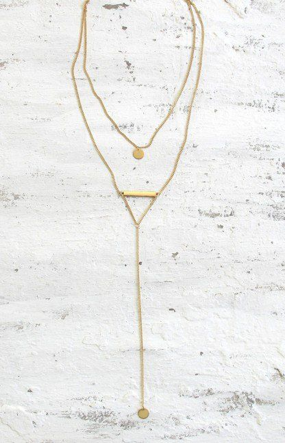 Minc Collections Dainty Drop Necklace Gold