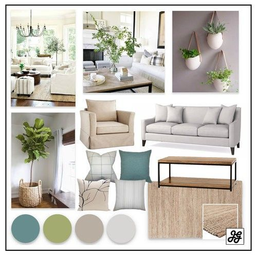 Mood Board Traditional Living Room Blue Neutral Farmhouse Living Room Pop Of Color Rustic Affordable Interior Design Interior Design Interior Design Help