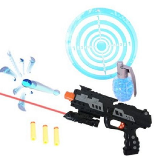 Double the fun with two types of ammo:Soft foam darts / Water bullets 2-n-1 Shooting Gun Toy http://amzn.to/2az6Yra…