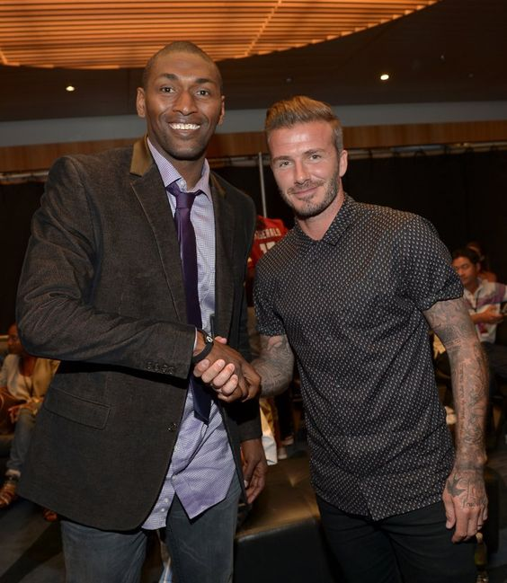 Pin for Later: These Celebs Are as Excited About Meeting David Beckham as We Would Be Metta World Peace