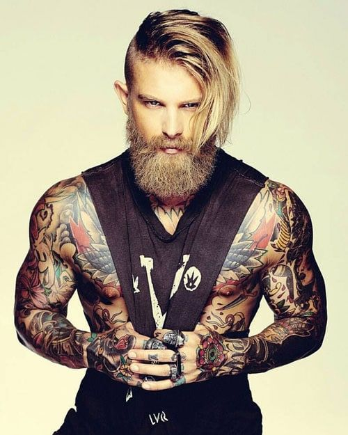 Guys With Long Hair And Tattoos