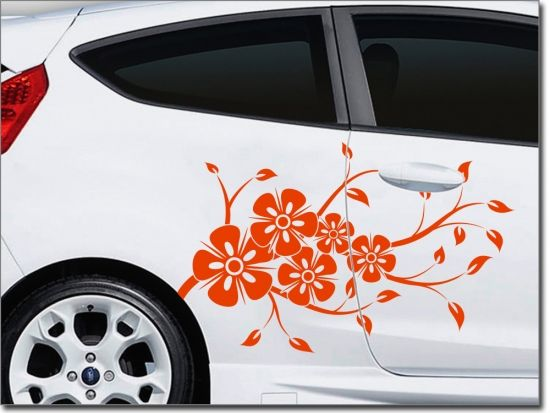 Autotattoo Freude Auto Aufkleber Autoaufkleber Blumen Autodesign