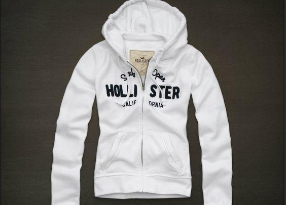 Nwt Hollister Womens Hoodie Ocean Beach Sz M White By