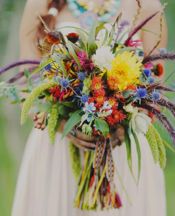 Wild Flowers For Weddings: Beautiful, Wildflowers Wedding And Floral Arrangements On