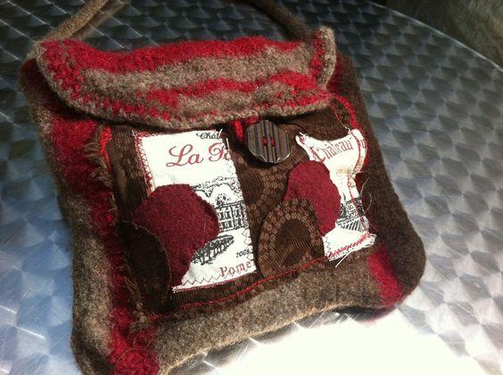 Handtasche - SeptemberWein, Tasche - ein Designerstück von GretesTraum bei DaWanda