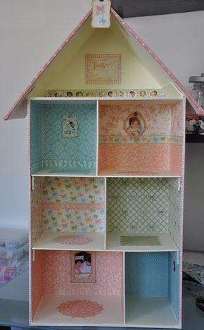Cómo hacer casa de muñecas con cajas de zapatos