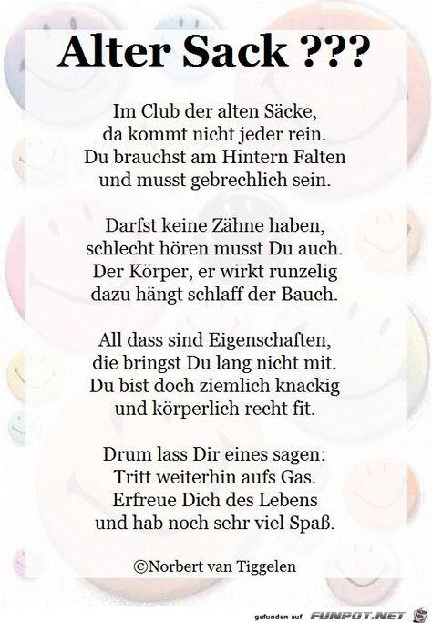 Auch Die Alten Sacke Der Schopfung Sollen Herzlichst Gegrusst Sein Y Sister Birthday Quotes Funny Quotes 17th Birthday Ideas