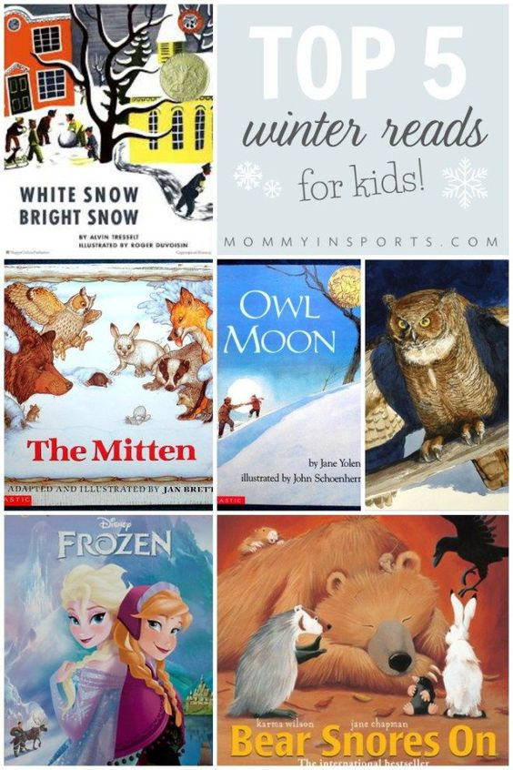 Looking for a good book about winter? Try one of these classics, with a few new ones mixed in! Top 5 Winter Reads for kids