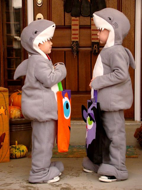 Adorable shark costume for kids!