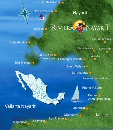 Maps Riviera Nayarit Official Website Convention Visitor Bureau