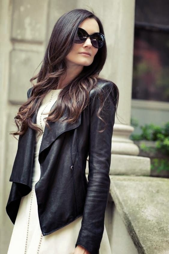 Womens Soft Leather Jacket - Coat Nj