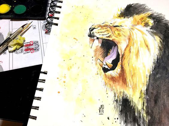 lion-watercolor