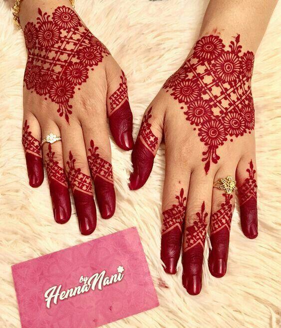 Lovely Red Henna Mehndi Designs For Fingers Henna Art Designs