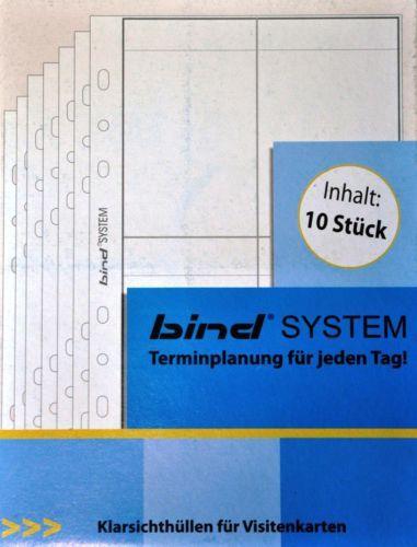 A5 BIND 10 KLARSICHTHÜLLEN EINLAGEN für Visitenkarten - Terminplaner Zeitplaner | eBay