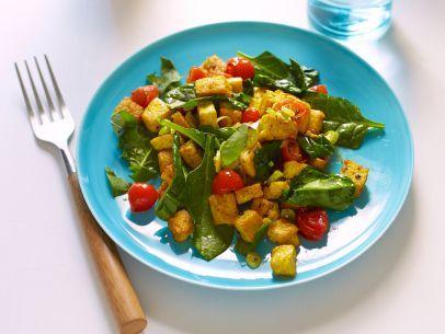 Vegan Tofu and Spinach Scramble