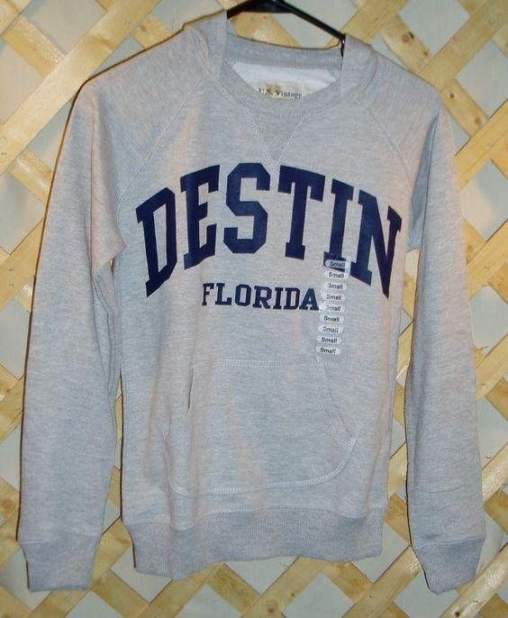 Gray Hoodie from Destin, Florida