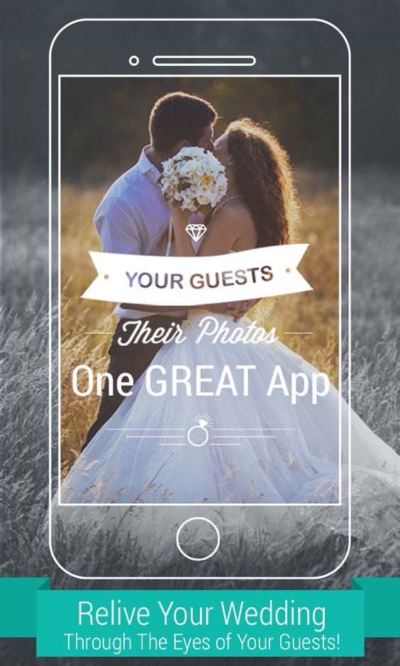 Wedding guest Digital cameras and App on