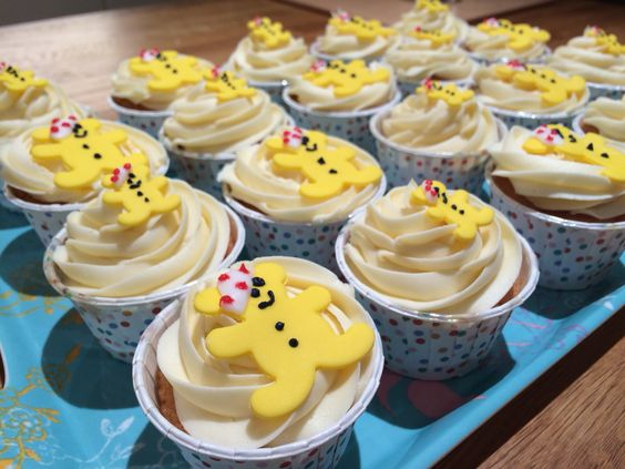 Pudsey Bear Children in Need cupcakes